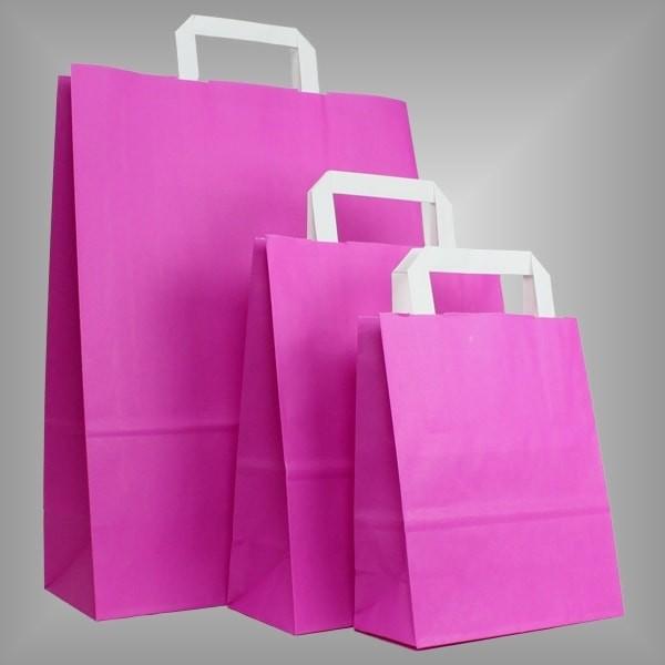 250 Papiertüten pink