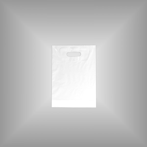 1.000 PE Tragetaschen weiß 25 x 35 + 4 cm