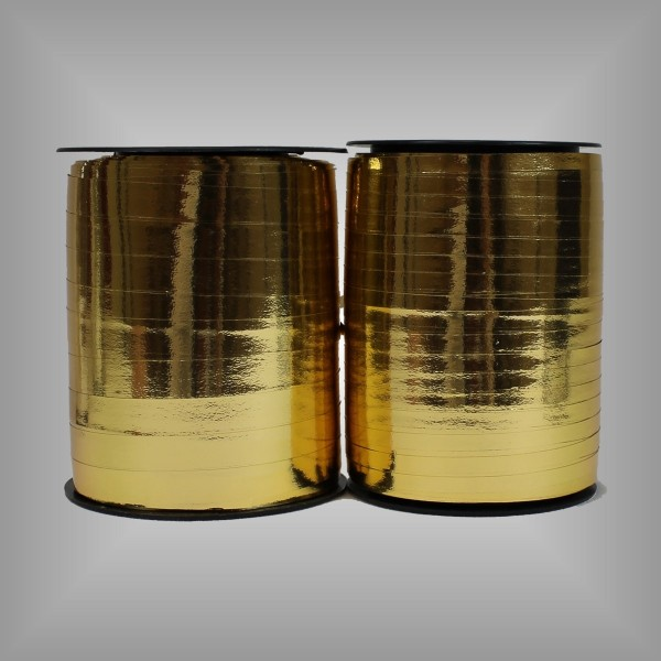 Kräuselband Metall Gold