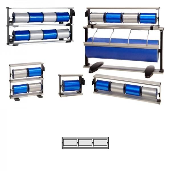 Kräuselbandständer 3-fach Alu
