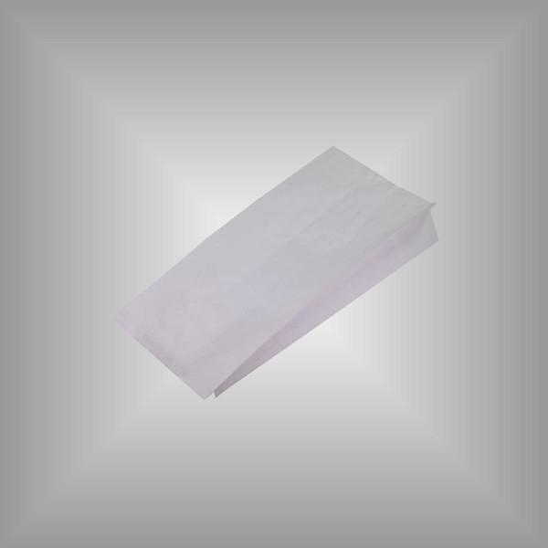 Seitenfaltenbeutel aus Papier weiß