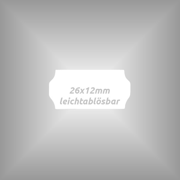 10 Rollen - Etiketten 26 x 12 mm