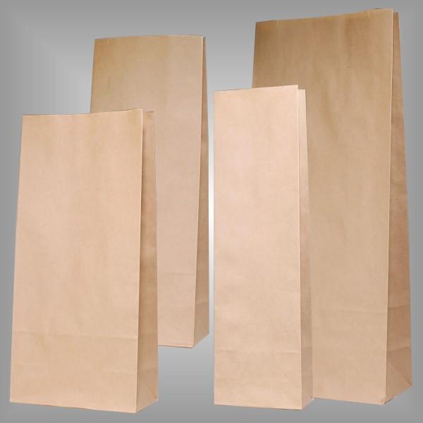 Papierblockbodenbeutel Premium braun