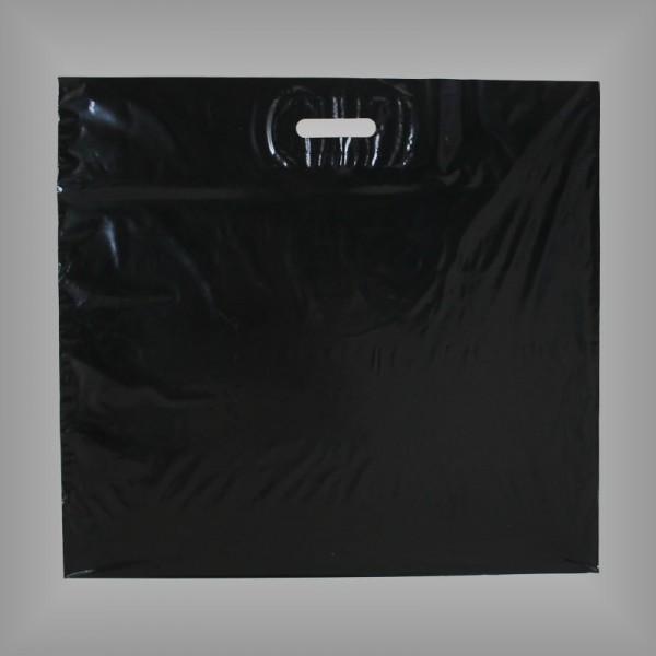 500 Kunststoff Tragetaschen Folienfarbe schwarz