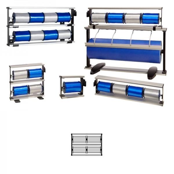 Kräuselbandständer 2x2-fach Alu