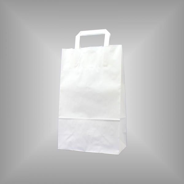 22 x 10 x 36 cm Papiertüten weiß 250 Stück