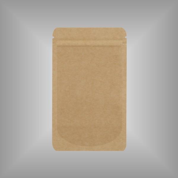 Standbeutel mit Boden braun Kraftpapier