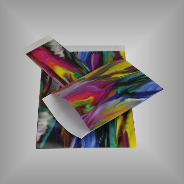 Papierflachbeutel Farbverlauf