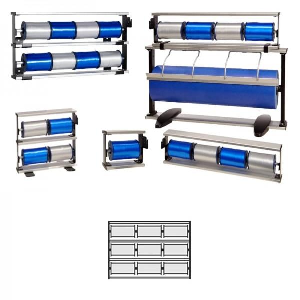 Kräuselbandständer 3x3-fach Alu