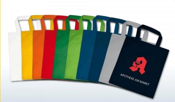 Textiltragetaschen 22 x 26 cm 1-seitig 2-farbig bedruckt