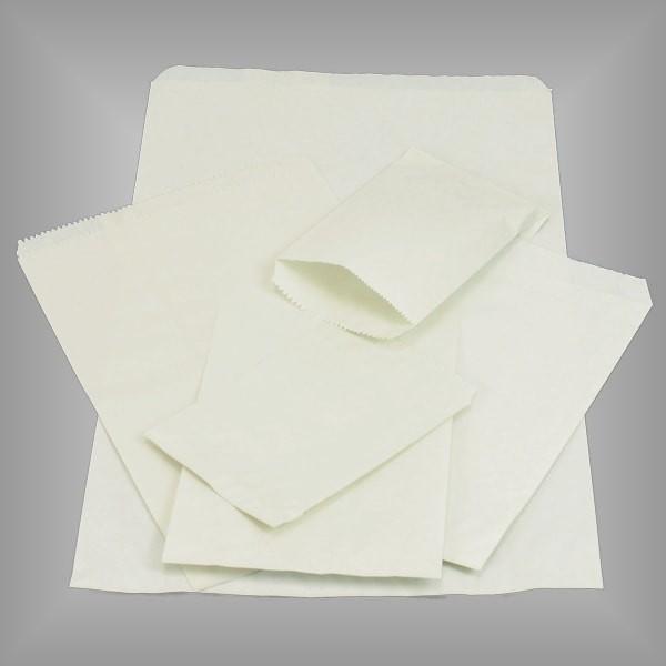 Flachbeutel aus Papier rohweiß